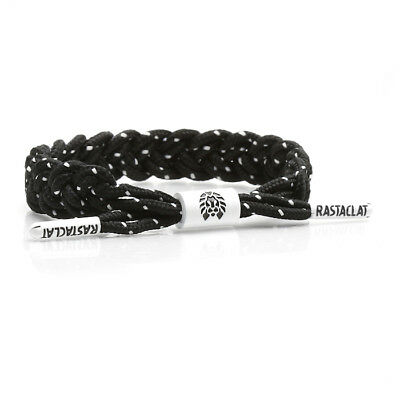 Brand New RASTACLAT Stimulus Black Braided Shoelace Bracelet