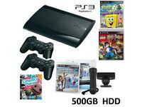 PS3 Super Slim 500GB HDD MOVE MEGA GAMES BUNDLE