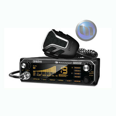 Uniden Bearcat 980 CB 27Mhz Radio with SS Band 7 Colours NEW Heavy Duty