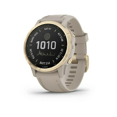 GARMIN FENIX 6S PRO SOLAR Light gold con conturino light sand 010-02409-11