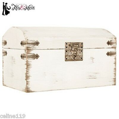 (Elegant Shabby Chic Antique White Wedding Card Gift Box Vintage Wishing Well)