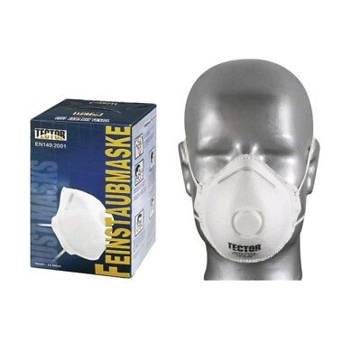 12 Stück Feinstaubmaske FFP2 mit Ventil Atemschutzmaske Staubmasken