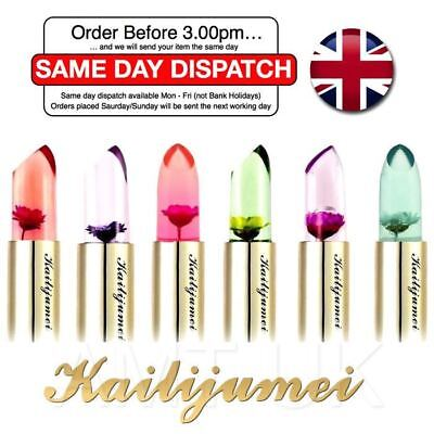 KAILIJUMEI ® Flower Jelly Lipstick Temperature Change Lip Lips Stick 6 col UK