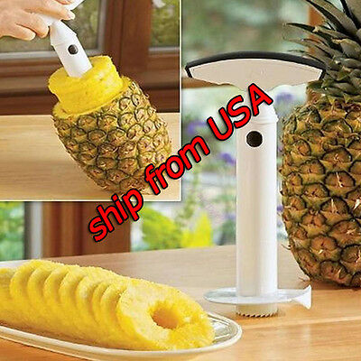 plastic Fruit Pineapple Cutter Peeler Corer Slicer Easy Kitchen Tool new