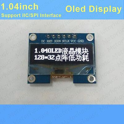 1.04 White Oled Screen Led Display Module 12832 Iic Spi Ssd1305 For Arduino