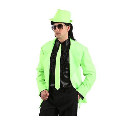 Krawatte neongrün Neonkrawatte Schlips Karnevalskostüm Zubehör 80er Verkleidung
