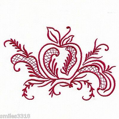 Embroidered Flour Sack Towel - SIMPLY ROSEMALING - APPLE