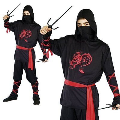 Ninja Master Warrior Fighter Stag Night Adult Party Mens Halloween Fancy - Fighter Halloween