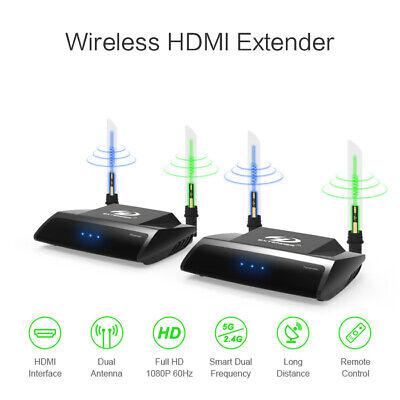 A24 2.4G 5.8G 100m HDMI Wireless AV Audio Video Sender Empfänger LOOP OUT 1080p 2.4 G Wireless Av Sender