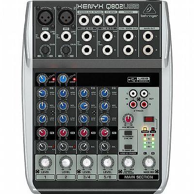 Behringer Q802 USB Xenyx Premium 8 Input,