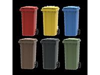 New 240 litre black/blue/brown wheelie bins - council approved - Dundonald Belfast Lisburn