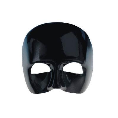 Maske Phantom, halbes Gesicht, schwarz mit Gummi Kostümzubehör Oper