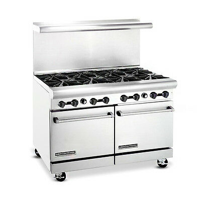 American Range Ar-8 Heavy Duty Gas 48 Inch 8 Burners Restaurant Range