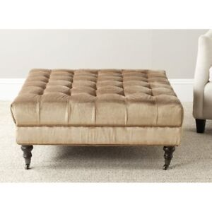 Bnib Co Holsey Cocktail Ottoman by Darby Home Gold/olive