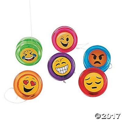 12 Emoji Smile Happy Face Mini Yo Yos Birthday Party Favors Gifts - Happy Face Birthday