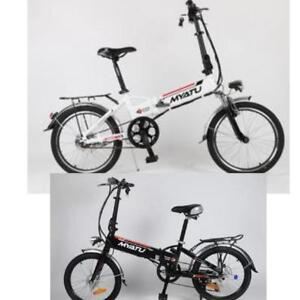 "Weekly Promotion! High Quality   20"" Aluminum alloy Folding eBike, LOT DM200, White/Black $1399(was $1799)"