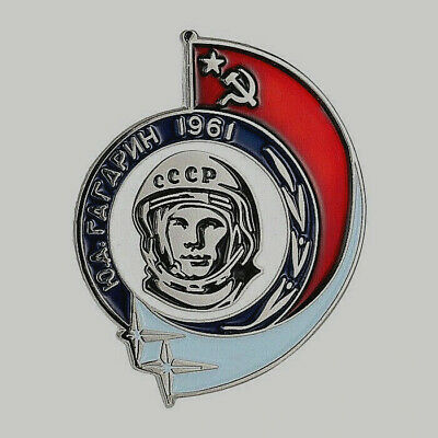 1961 Yuri Gagarin Soviet Union Pin Badge Russian Russian Federation Putin CCCP