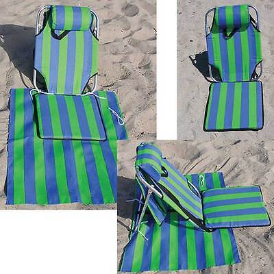 Portable folding lounge chair beach patio pool yard lightweight lounger 1.5 lbs