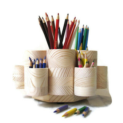Rotating Colored Pencil Holder With Pencil Stub Cups Holds 300 Pencils - New Usa