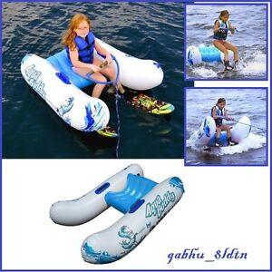 Kids Wake Board Trainer Water Ski Boat Beginner Flotation Inflatable Tube Float