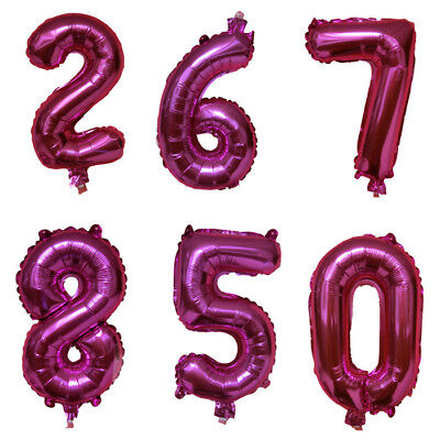 Number 1 Balloons (1pcs 40cm Cute Silver Numbers Letters Foil Balloons Birthday Decoration)