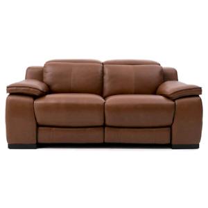 Causeuses enclinable , 2 Sofas  en cuir pour 3 et 2 personnes