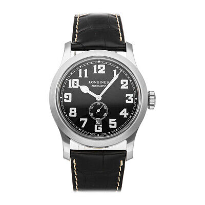 Longines Heritage Military Auto 44mm Steel Mens Strap Watch Date L2.811.4.53.0