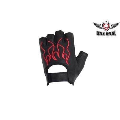 Fingerlose Leder Handschuhe Schnell und Gratis Versand (Rote Und Schwarze Fingerlose Handschuhe)