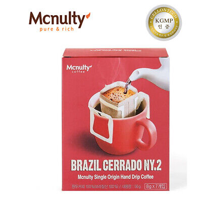 [Mcnulty] Brazil Cerrado NY Single Serve Hand Drip Coffee (8g*7⨉3) 21pack