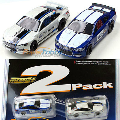 AFX Mega G+ Stocker Twin Pack HO Scale Slot Car MegaG+ 21026 MG+ Nascar