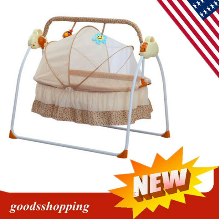 Baby Electric Auto Swing Cot Cradle Electric Infant Rocker Bouncer