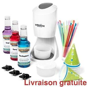 Machine a cornet glace & equipement / Shaved Ice Machine and Syrup Party Package