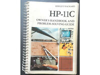 Hewlett Packard HP 11C Scientific Calculator Owner's Handbook