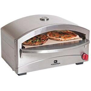 GAS EDELSTAHL Pizzaofen Steinofen Stone Pizza + GRATIS Pizzaheber