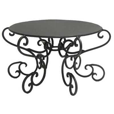 Black Round Metal Scroll Metal Cake Stand Classic Wedding Decor - Black Cake Stands