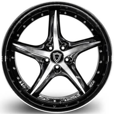 20x8.5 Capri Luxury #5193 black machine wheels 5x127 fits new Jeep Wrangler