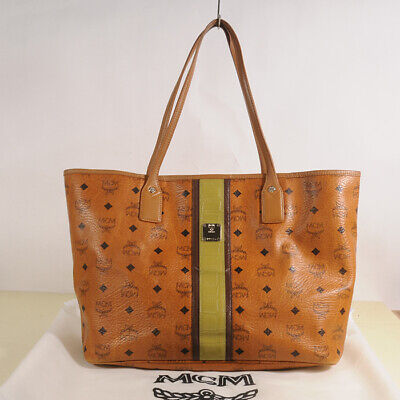 AUTHENTIC MCM Visetos Shopper Bag + Dust Bag
