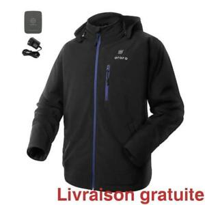 Veste chauffante ORORO  / Men's Heated Jacket with Detachable Hood and Battery Pack
