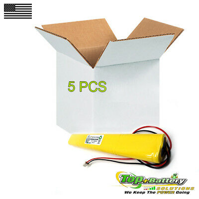 5pc Emergency Lighting Battery 9.6v 800mah Replaces Lithonia Unitech Bbat0043a