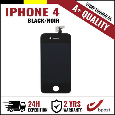A+ LCD TOUCH SCREEN VITRE TACTILE DISPLAY SCHERM ÉCRAN BLACK NOIR FOR IPHONE 4