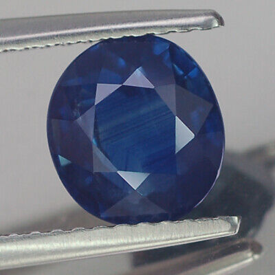 2.20CT MARVELOUS AA OVAL HEATED ONLY BLUE SAPPHIRE NATURAL