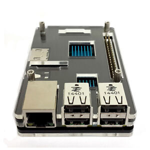 Acryl Gehäuse Schutzhülle Case Box für Raspberry Pi 2 Model B & Model B+ Schwarz