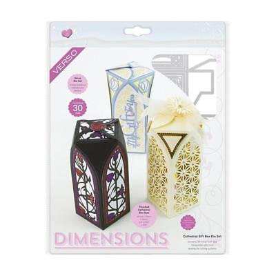 Dice Set Gift Box - Tonic Studios Cathedral Gift Box  Die Set Verso Dimensions
