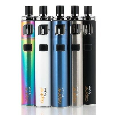 Genuine Aspire PockeX Vape Pen ECig E-Cigarette 1500mAh Starter Kit OR coils