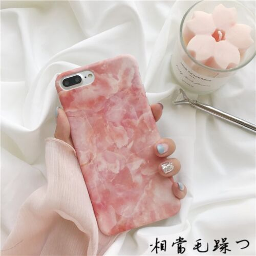 Glossy Granite Marble Hard Case PC Phone Cover For Apple iPhone XS 7 Plus 6s X 8