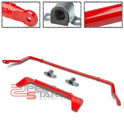02-05 CIVIC EP3 HATCH ALLOY STEEL RED ANTI ROLL SWAY STABILIZER BAR+BUSHING KIT