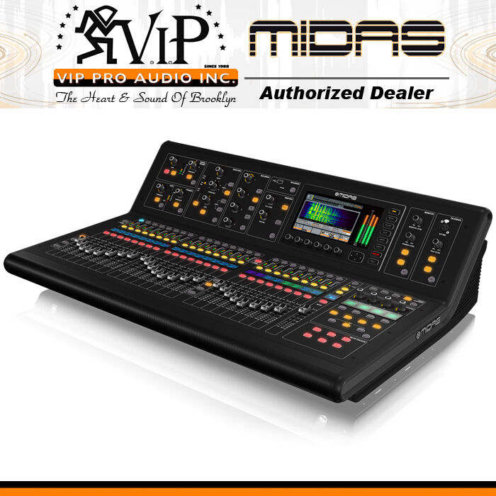 Midas M32-ip Digital Console Live & Studio W/40 Input Channels 32 Mic Inputs New