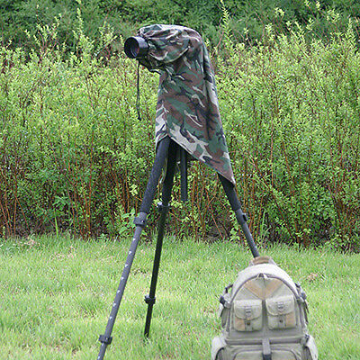 Medium Rain Cover for DSLR Cameras & Zoom Lenses. Camouflage. Viewing Window