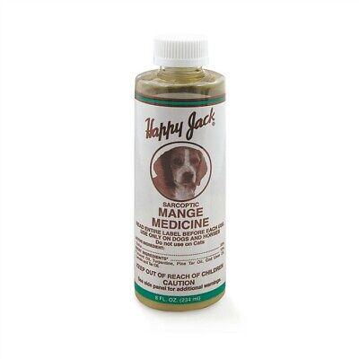 Happy Jack Sarcoptic Mange Medicine for Dogs & Horses 8 oz. - Happy Jack Dog Supplies