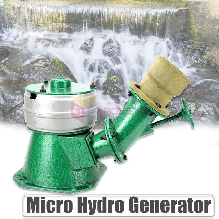500W 220V Micro Hydro Water Turbine Electric Generator Hydroelectric Power NEW
